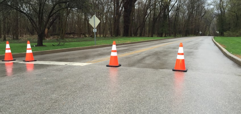 Indian Hills closed at River Road due to flooding